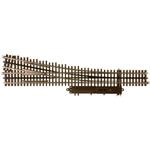 Atlas 6025 O 21st Century Track System Nickel Rail w/Brown Ties 3-Rail #5 Turnout Right Hand