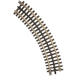 Atlas 6043 O 21st Century Track System Nickel Rail w/Brown Ties 3-Rail O27 Full Curved Section