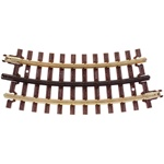 Atlas 6044 O 21st Century Track System Nickel Rail w/Brown Ties 3-Rail 27 Half Curved Section