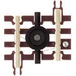 "Atlas 6059 O 21st Century Track System Nickel Rail w/Brown Ties 3-Rail Uncoupler 1-3/4"" 4.4cm"