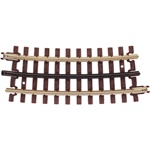 Atlas 6061 O 21st Century Track System Nickel Rail w/Brown Ties 3-Rail O54 Half Curve