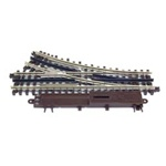 Atlas 6076 O 21st Century Track System Nickel Rail w/Brown Ties 3-Rail O36 Right Hand Remote Custom Switch