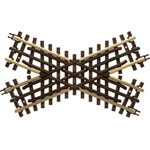 Atlas 6081 O 21st Century Track System Nickel Rail w/Brown Ties 3-Rail 45-Degree Crossing
