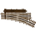 Atlas 6086 O 21st Century Track System Nickel Silver Rail w/Brown Ties 3-Rail O-45 Switch Right Hand