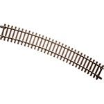 "Atlas 7062 O Code 148 Solid Nickel 2-Rail 36"" Radius Full Curve Track Section"