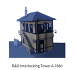 Alexander 7880 HO Baltimore & Ohio Interlocking Tower Kit 120-7880