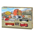 BAC00647 Bachmann Industries HO Santa Fe Flyer Train Set, SF