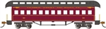 Bachmann 15104 HO Old-Time Wood Coach with Round-End Clerestory Roof Santa Fe