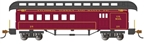 Bachmann 15204 HO Old-Time Wood Combine with Round-End Clerestory Roof RTR Santa Fe 160-15204