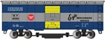 Bachmann 16318 HO Track Cleaning 40' Boxcar w/ Removable Dry Pad Serie Missouri Pacific
