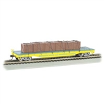 BAC16605 Bachmann Industries HO Flat w/Crate Load RBBX119 160-16605