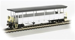 Bachmann 17447 HO Open-Sided Excursion Car w/Seats Series Unlettered &