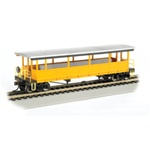 Bachmann 17448 HO Open-Sided Excursion Car w/Seats Series Unlettered