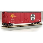 BAC18002 Bachmann Industries HO 50' Plug-Door Box ATSF 160-18002