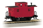 Bachmann 18449 HO Bobber Caboose Unlettered Red 160-18449 BAC18449