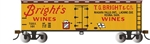 Bachmann 19809 HO 40' Wood Reefer Silver Series Bright's Wines
