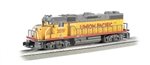 Bachmann 21222 O EMD GP38 Conventional 3-Rail w/Horn & Bell Williams Union Pacific #2019 Armour Yellow Gray 160-21222