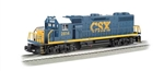 Bachmann 21223 O EMD GP38 Conventional 3-Rail w/Horn & Bell Williams CSX Transportation #2814 Dark Future