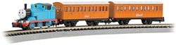 Bachmann N 24028 Thomas with Annie and Clarabel Train Set Standard DC 2 Cars E-Z Track Circle Controller
