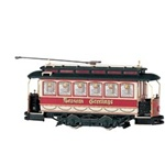 Bachmann 25127 On30 Traction-Powered Closed Streetcar Spectrum Christmas Seasons Greetings