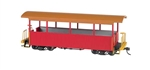Bachmann 26002 On30 Wood Excursion Car Painted Unlettered Red Tan Roof