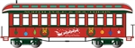 Bachmann 26206 On30 Wood Coach-Observation Spectrum Christmas
