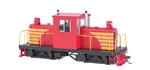 Bachmann 29204 On30 Whitcomb 50-Ton Center-Cab w/DCC Spectrum Painted Unlettered Red Yellow