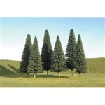 "Bachmann 32001 HO Pine Trees SceneScapes 5 to 6"" pkg 6"