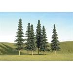 "Bachmann 32004 HO Spruce Trees SceneScapes 5 to 6"" pkg 6"