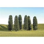 "Bachmann 32005 HO Cedar Trees SceneScapes 5 to 6"" Pkg 6"