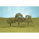 "Bachmann 32007 HO Walnut Trees SceneScapes 2-1/2 to 3-1/2"" Pkg 3"