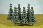 "Bachmann 32012 HO Spruce Trees SceneScapes 5 to 6"" Pkg 6"