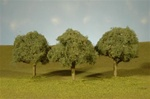 "Bachmann 32013 HO Oak Trees SceneScapes 3 3-1/2"" Pkg 3"