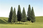 "Bachmann 32101 N SceneScapes Layout-Ready Trees Pine Trees 3-4"" Pkg 9"