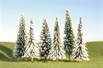 "Bachmann 32102 N SceneScapes Layout-Ready Trees Pine Trees w/Snow 3-4"" Pkg 9"