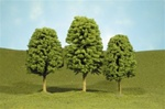 "Bachmann 32106 N SceneScapes Layout-Ready Trees Deciduous Trees 2-3"" pkg 4"
