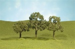 "Bachmann 32107 N SceneScapes Layout-Ready Trees Walnut Trees 2 2-1/4"" Pkg 4"