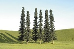 "Bachmann 32155 SceneScapes Layout-Ready Trees Coniferous 3 to 4"" Tall pkg 36"