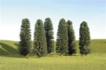 "Bachmann 32160 Cedar Trees SceneScapes 5 to 6"" Tall pkg 24"