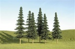 "Bachmann 32204 O SceneScapes Layout-Ready Trees Spruce Trees 8-10"" pkg 3"