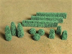 Bachmann 32504 HO Boxwood Plants Assorted Pkg 20