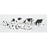 Bachmann 33103 HO Cows Black & White 6/ 160-33103 BAC33103
