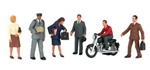 Bachmann 33151 O City People w/Motorcycle SceneScapes pkg 7 160-33151