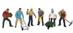 Bachmann 33155 O Construction Workers SceneScapes pkg 6 160-33155