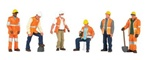 Bachmann 33156 O Maintenance Workers SceneScapes pkg 6 160-33156