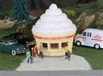 "Bachmann 35303 O Ice Cream Stand Resin 7 x 4-1/2 x 5-1/4"" 17.8 x 11.4 x 13.3cm 160-35303"