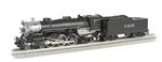 Bachmann 40803 O 4-6-2 Pacific Conventional 3-Rail w/True Blast Plus Whistle & Bell Santa Fe #3430