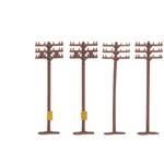 BAC42506 Bachmann Industries N Telephone poles       12/ 160-42506