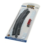 "Bachmann 44402 HO Curved Track w/Steel Rail & Roadbed E-Z Track 18"" Radius Curve w/Rerailer & Terminals 160-44402"
