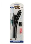 Bachmann 44462 HO Turnout w/Steel Rail Track & Roadbed E-Z Track Right Hand Remote 160-44462